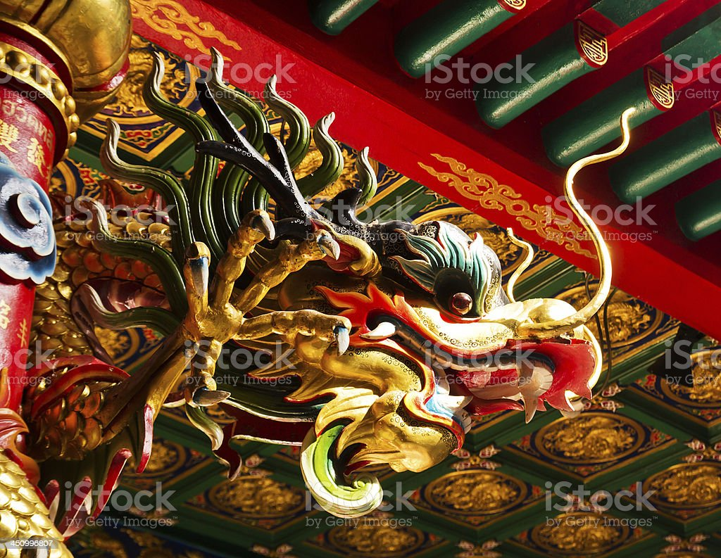 Chinese dragon statues royalty-free stock photo