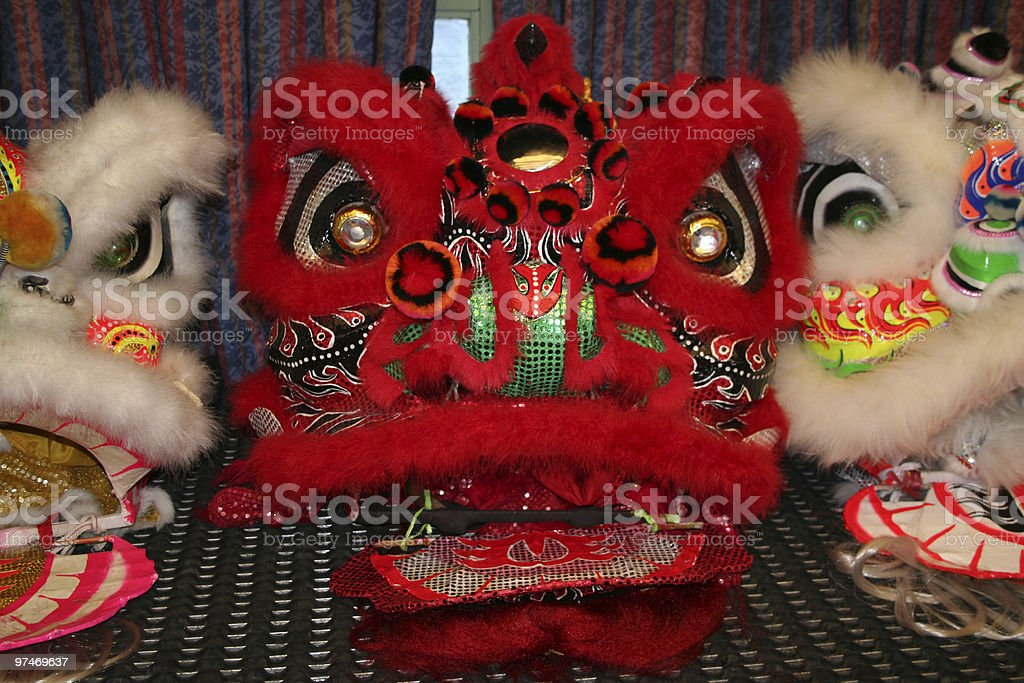 Chinese Dragons' Heads. royalty-free stock photo