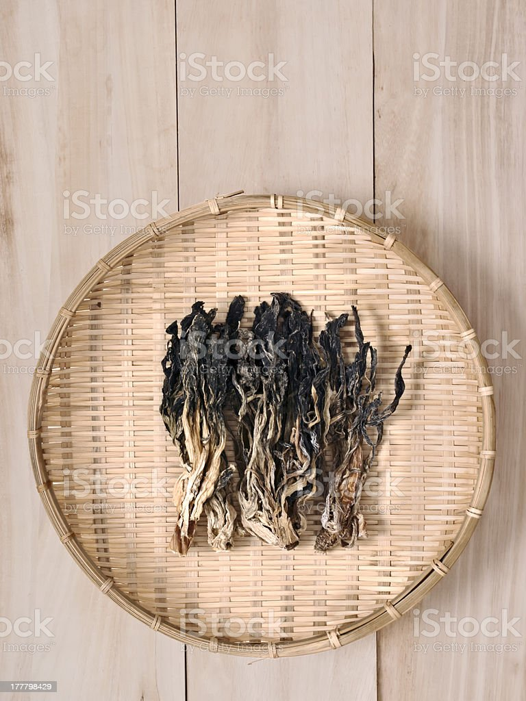 chinese dried mustard leaves royalty-free stock photo