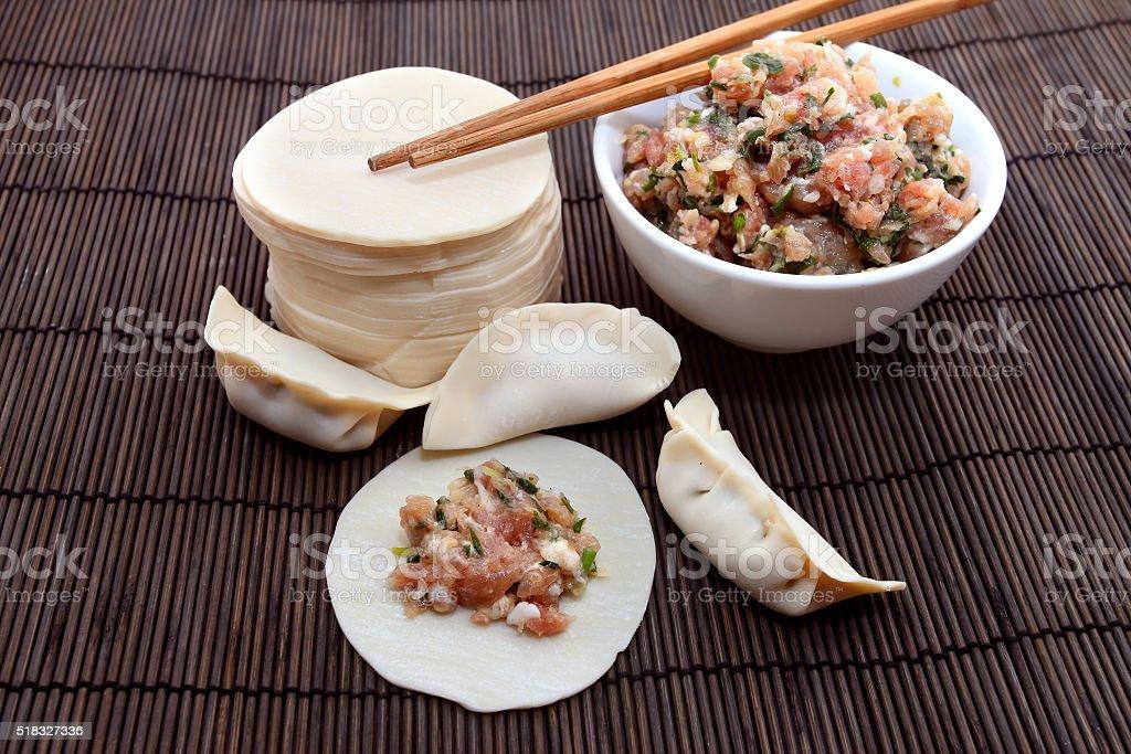 Chinese Dumpling Ingredients stock photo