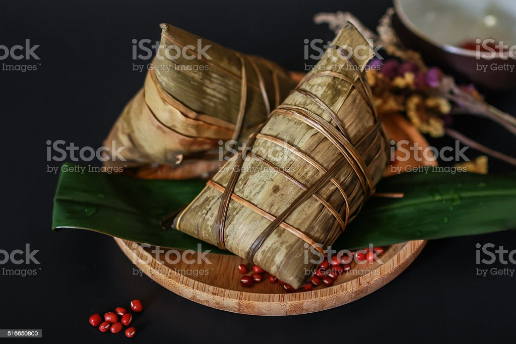 chinese dumplings, zongzi usually taken during festival occasion stock photo