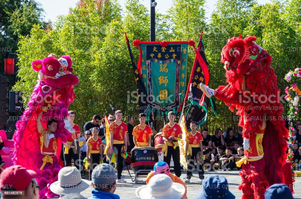 Chinese Easter celebrations in Bendigo, Australia stock photo
