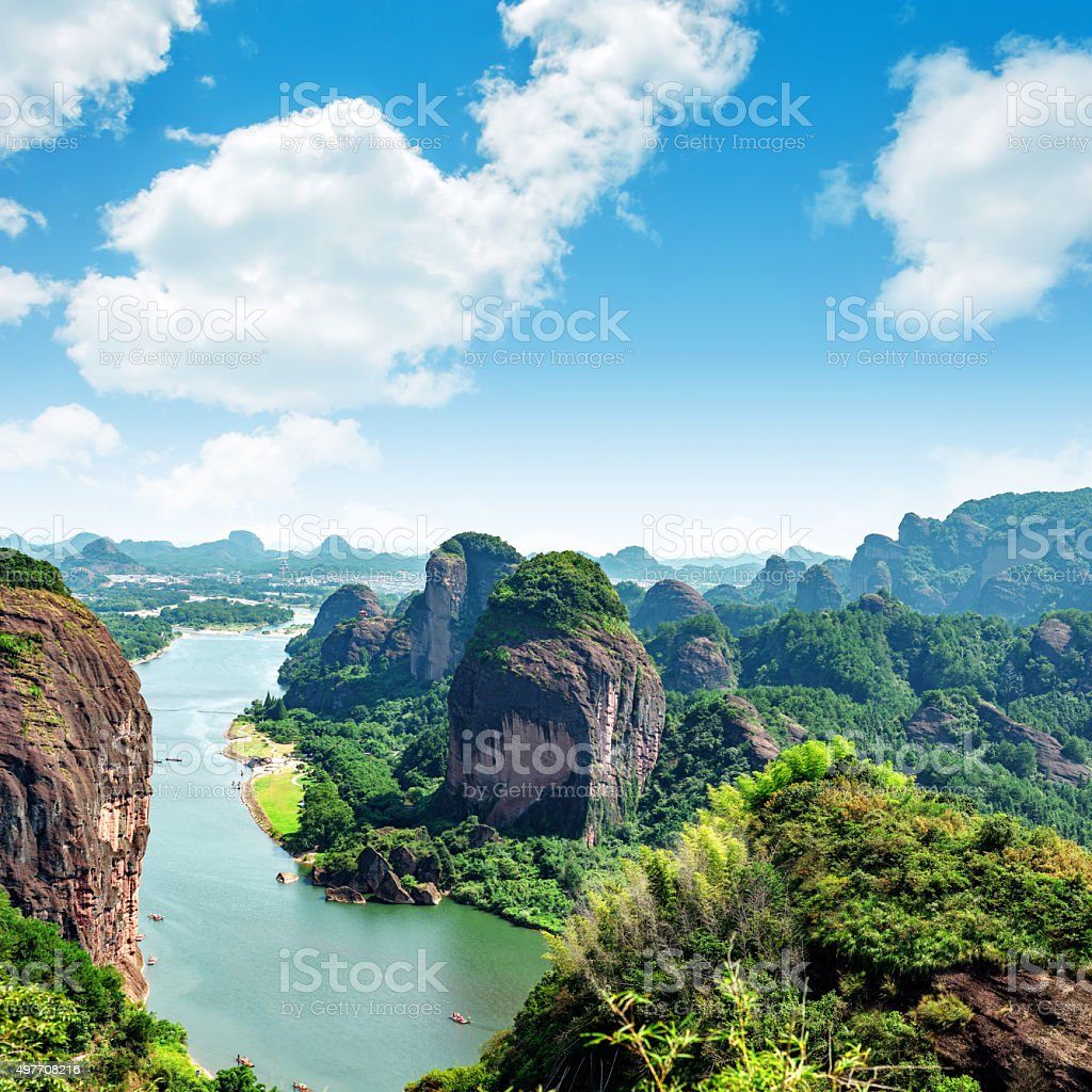 Chinese eerie landscapes stock photo