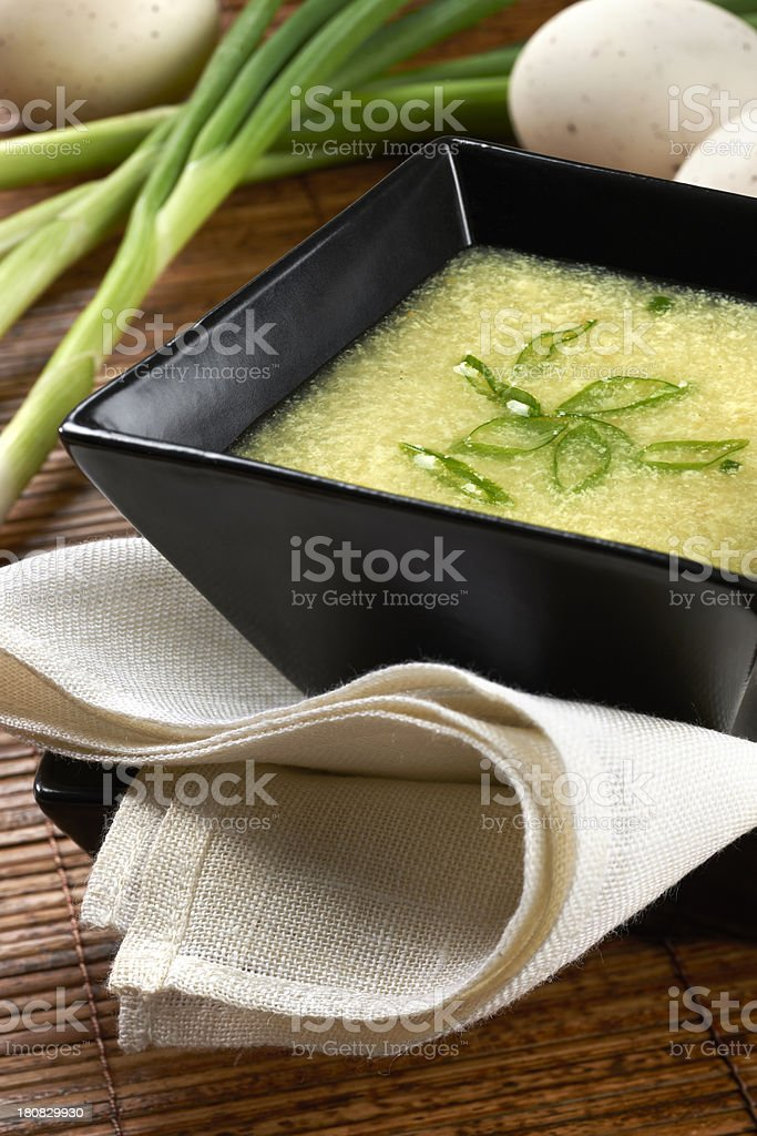Chinese Egg Drop Soup stock photo