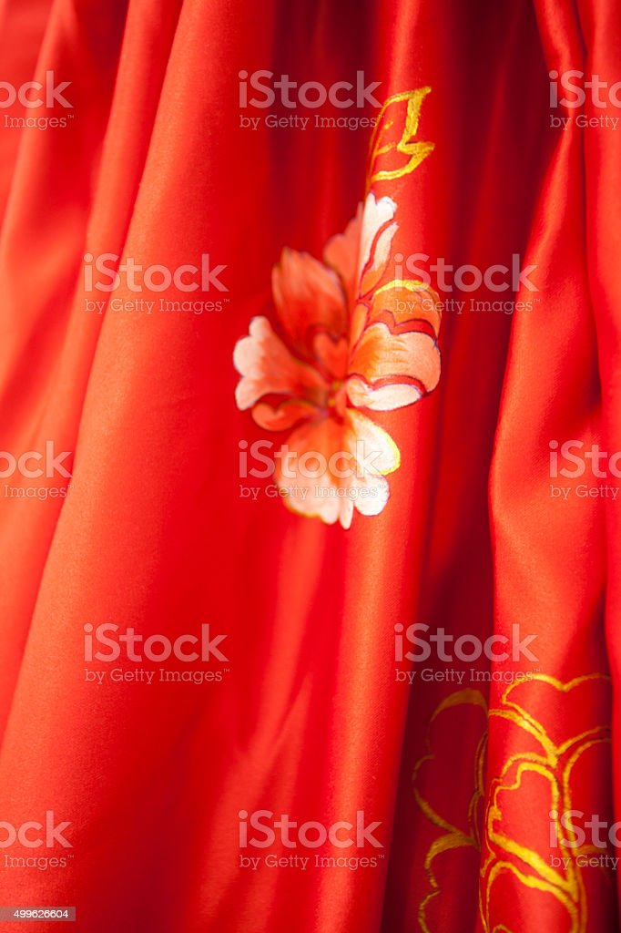 Chinese embroidery stock photo