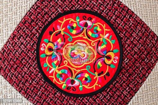 532522827 istock photo Chinese embroidery style pattern。Chinese auspicious patterns 1219112939