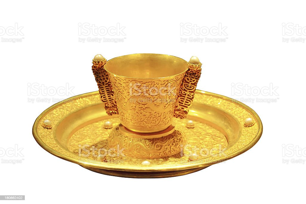 Chinese emperor's Cup royalty-free stock photo