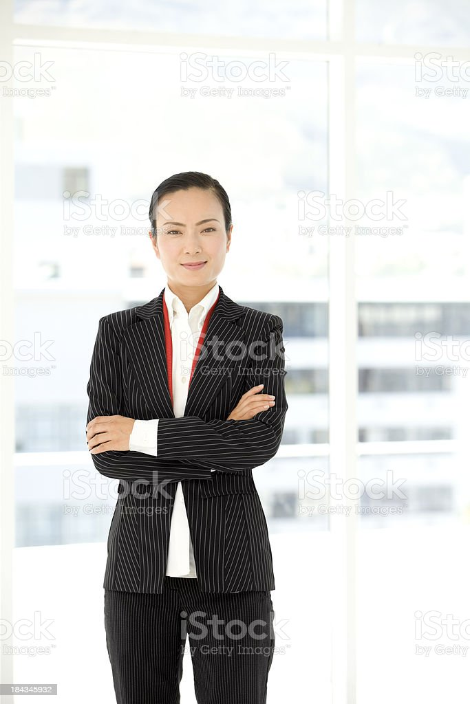 Chinese executive woman stock photo
