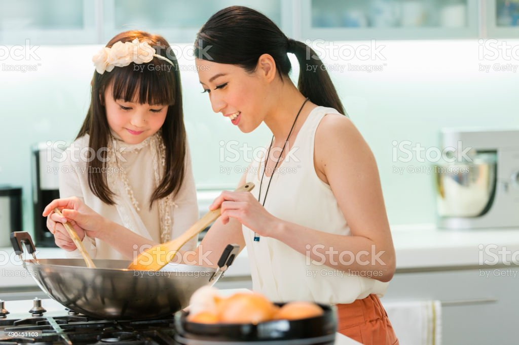 Chinese Family stock photo