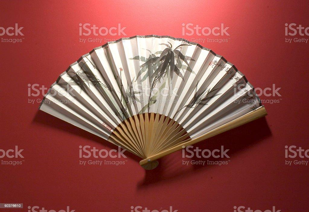 Chinese Fan, Bamboo royalty-free stock photo