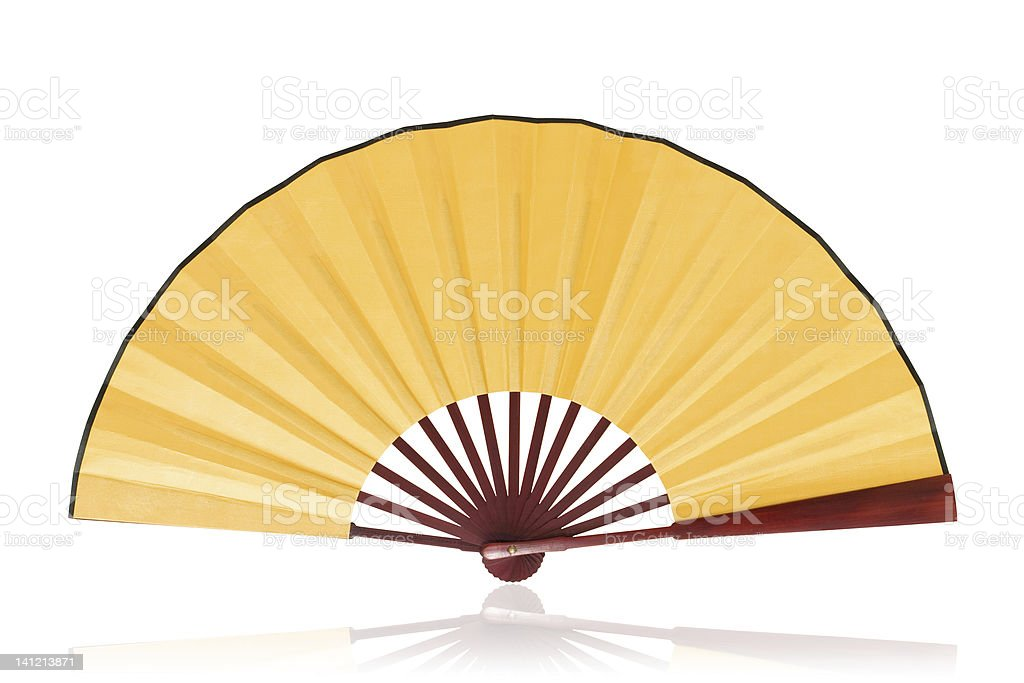 Chinese fan (Clipping path!) isolated on white background stock photo