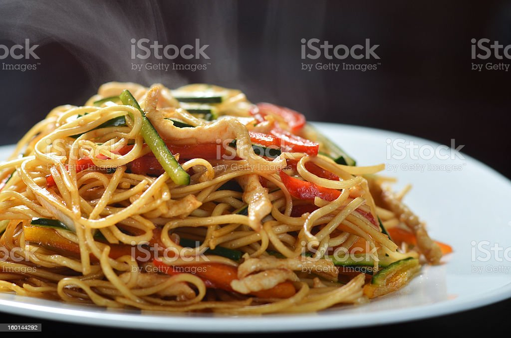 Chinese fast food stock photo