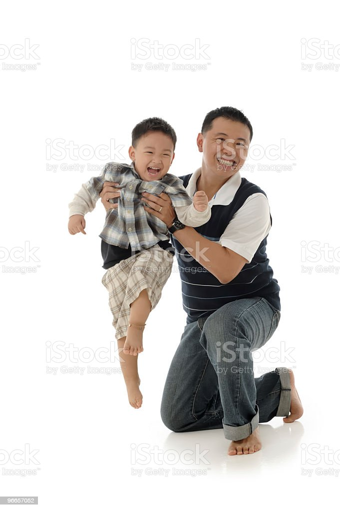 Chinese Father and son royalty-free stock photo