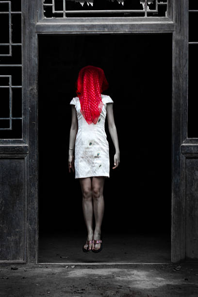 4782a1f3cae Top Chinese Female Ghost Dressed In White Wearing A Red Scarf Pictures