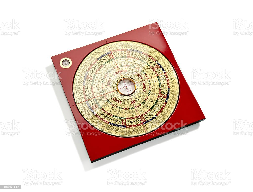 Chinese Feng Shui compass stock photo