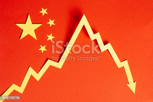 Chinese Financial Crisis Stock Photo More Pictures Of Arrow Symbol