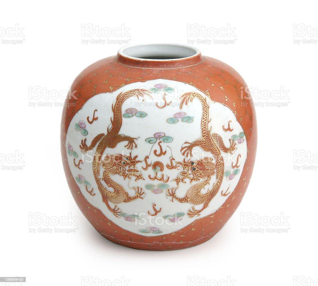 Chinese fine ceramic vase stock photo