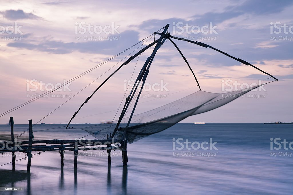 Chinese Fishing Net, Fort Cochin royalty-free stock photo