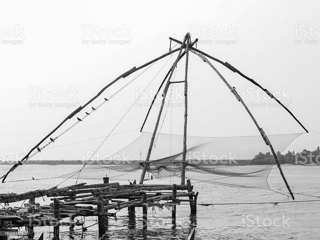 Chinese Fishing Net stock photo