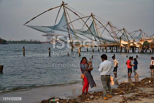 155674939 istock photo Chinese fishing nets in Kochi, India 1214122223