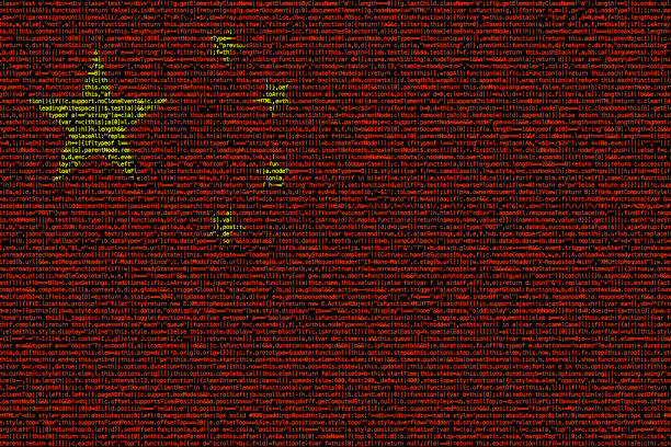 Chinese flag composed of dense computer code cybersecurity concept stock photo