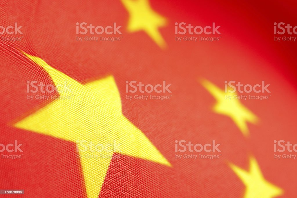 Chinese flag detail royalty-free stock photo