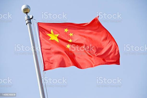 Chinese Flag Stock Photo - Download Image Now