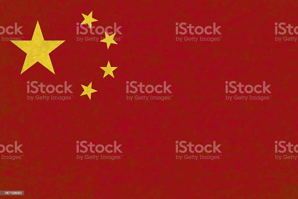 Chinese flag royalty-free stock photo