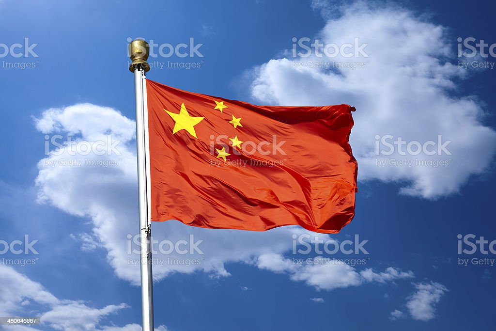 Chinese flag royalty-free stock photo