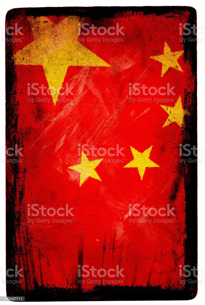 Chinese Flag XXL royalty-free stock photo