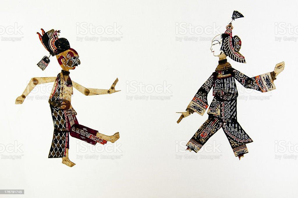 Chinese folk theater art, shadow royalty-free stock photo