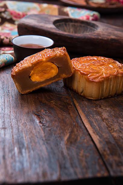 Chinese Food background, moon cake. stock photo