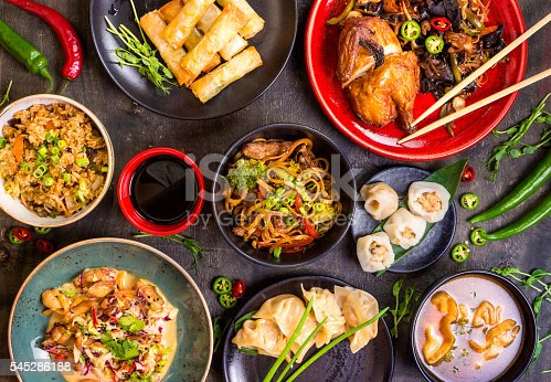 istock Chinese food blank background 545286188