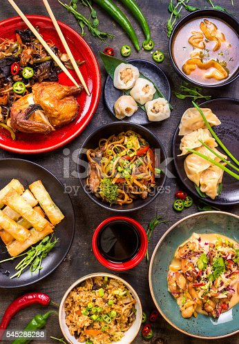 istock Chinese food blank background 545286288