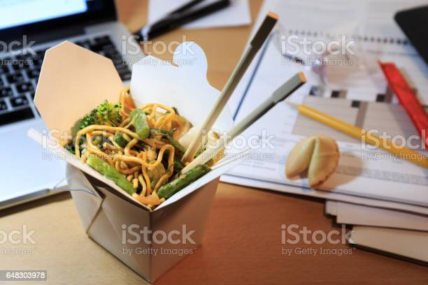 Chinese food box on the office desk eating at the office overtime picture id648303978?b=1&k=6&m=648303978&s=612x612&h=l2rgomxg4ibyp0iplbc6r6ekqrb8oer7wgrtg h eoy=