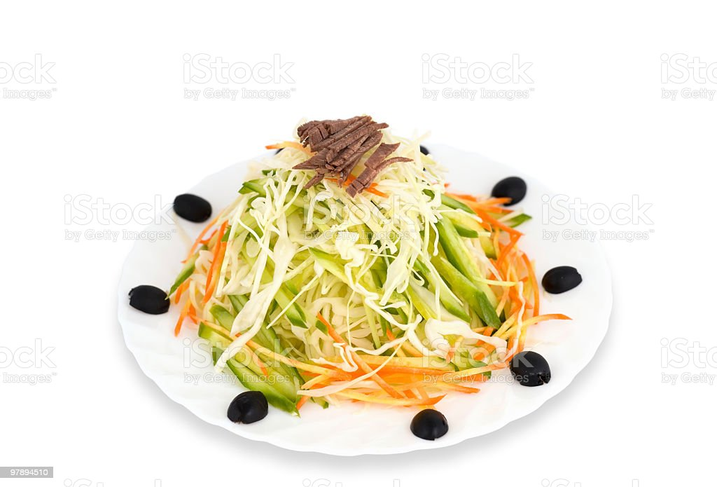 Chinese food. Cabbage salad, clipping path. royalty-free stock photo
