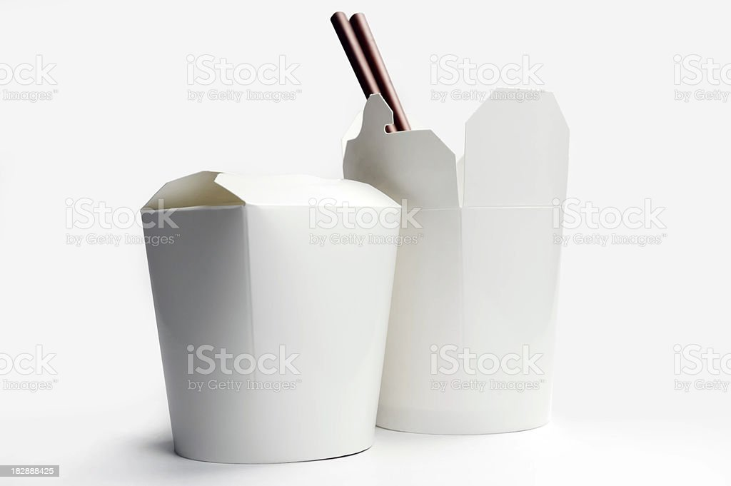Chinese Food Container stock photo