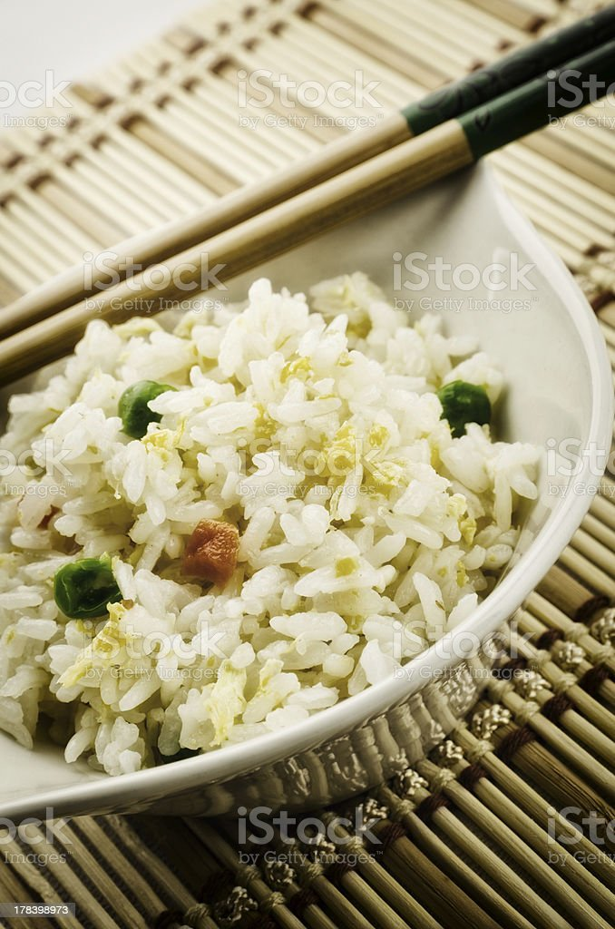 Chinese food, fried rice stock photo