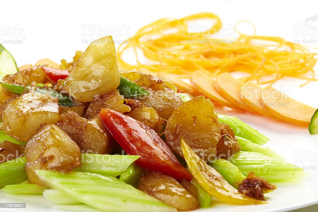 Chinese food, Scallop meet with Celery royalty-free stock photo