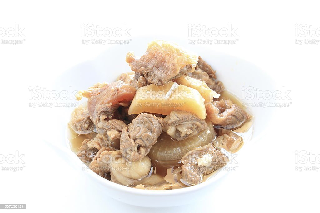 Chinese food, simmered beef tendon stock photo