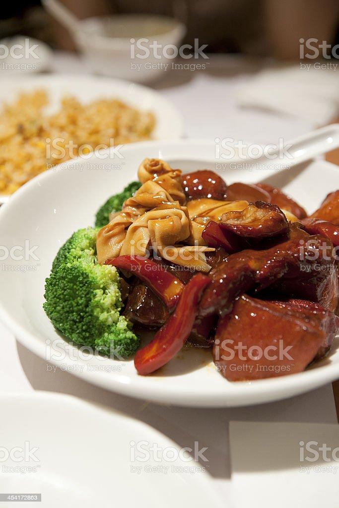 Chinese Food - Stewed Pork royalty-free stock photo