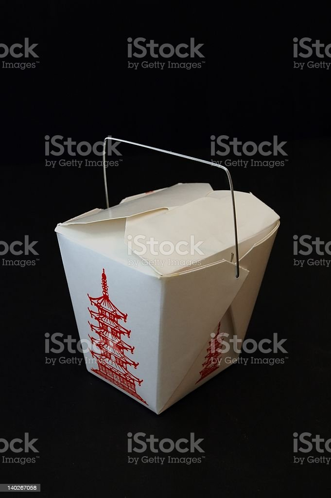 Chinese Food Take Out Box royalty-free stock photo