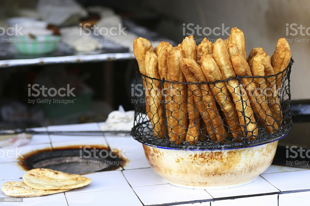 chinese food,deep-fried twisted dough sticks royalty-free stock photo