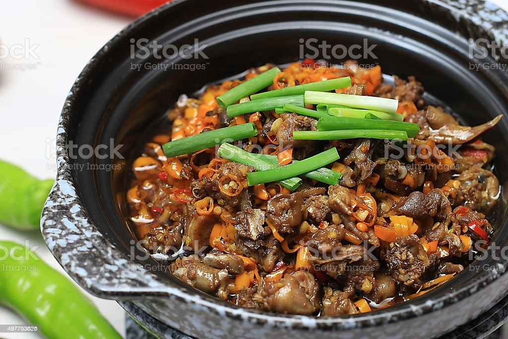 Chinese food:Fried pigeon stock photo