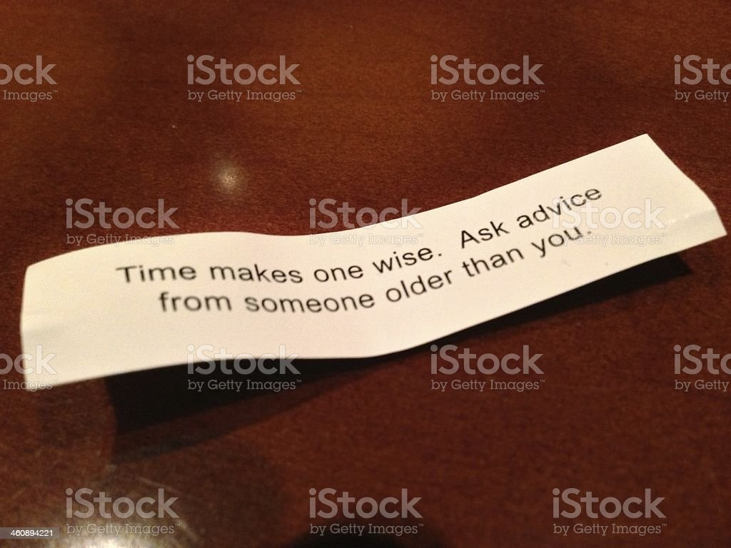 Chinese Fortune Cookie Fortunes royalty-free stock photo