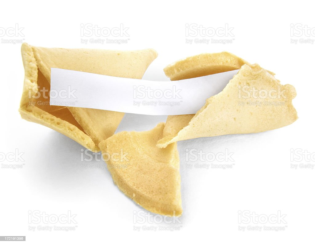 Chinese Fortune Cookie royalty-free stock photo