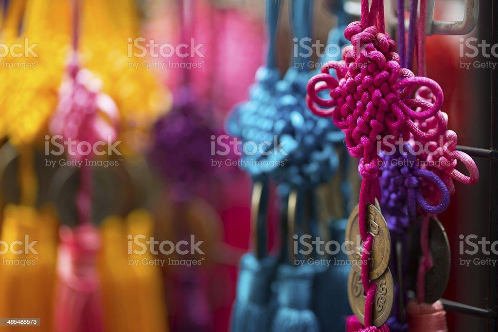 Chinese fortune ribbon stock photo