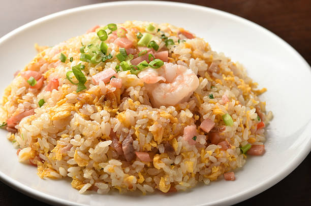 Chinese Fried rice Chinese food,rice ,shrimp,egg,vegetables fried rice stock pictures, royalty-free photos & images