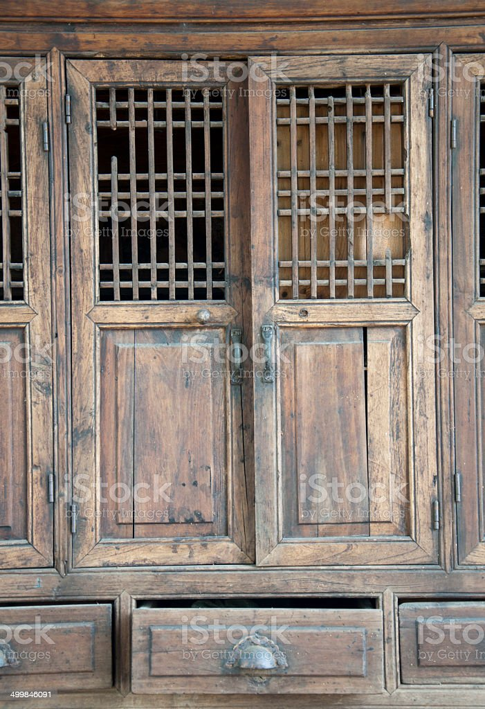 Chinese furniture stock photo
