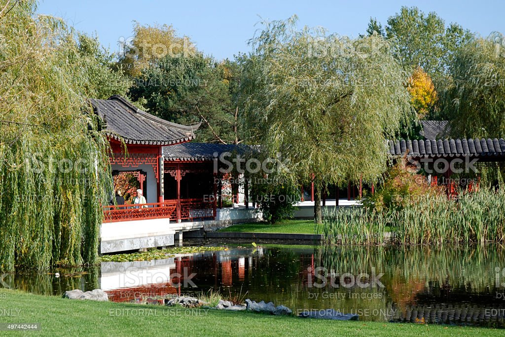 Chinese garden in Berlin - Germany stock photo